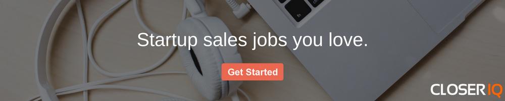 startup sales jobs